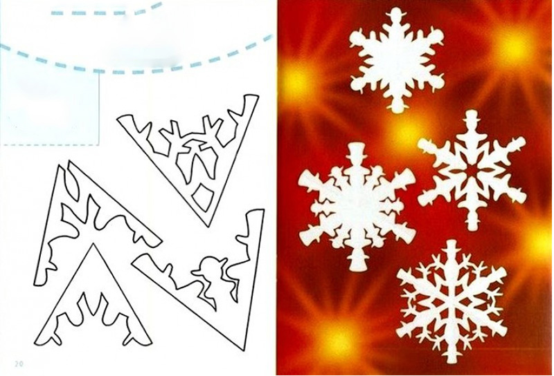 Схема снежинки к новому году
