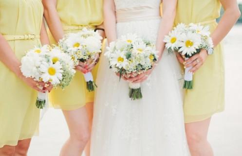 невеста на ромашковой свадьбе